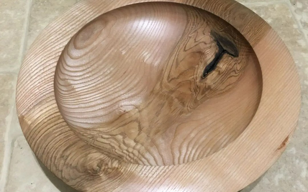 Ash Bowl with Lovely Grain