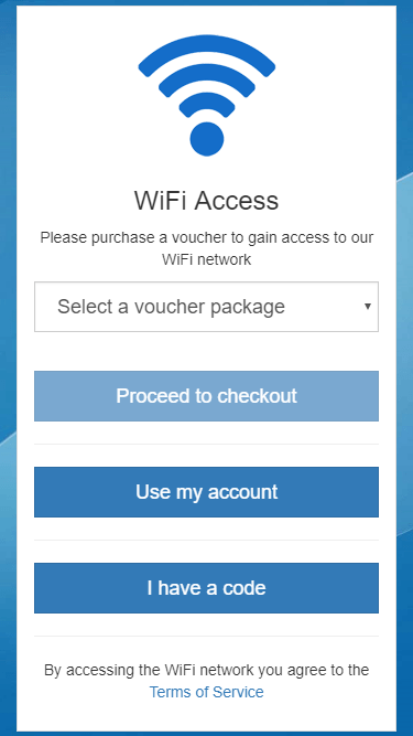 Radius authentication (for staff or partners) combined with vouchers