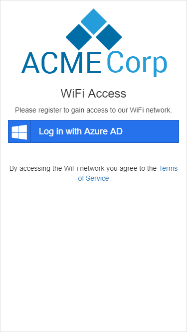 Example captive portal with AzureAD authentication, iPad