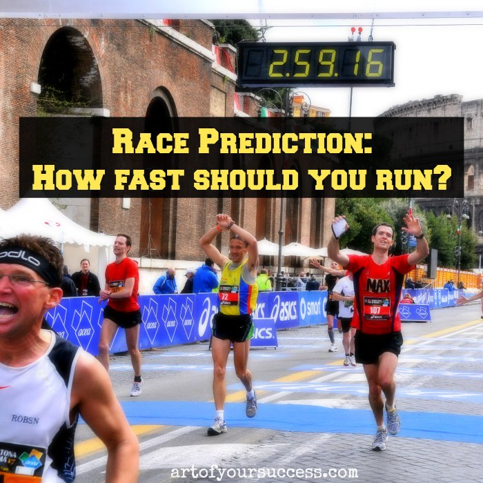 Predict how fast to run a race