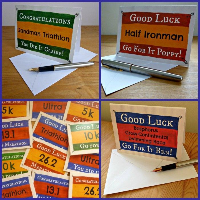 Cards for running triathlon sport