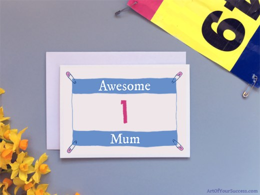 Awesome Mum Card for runner