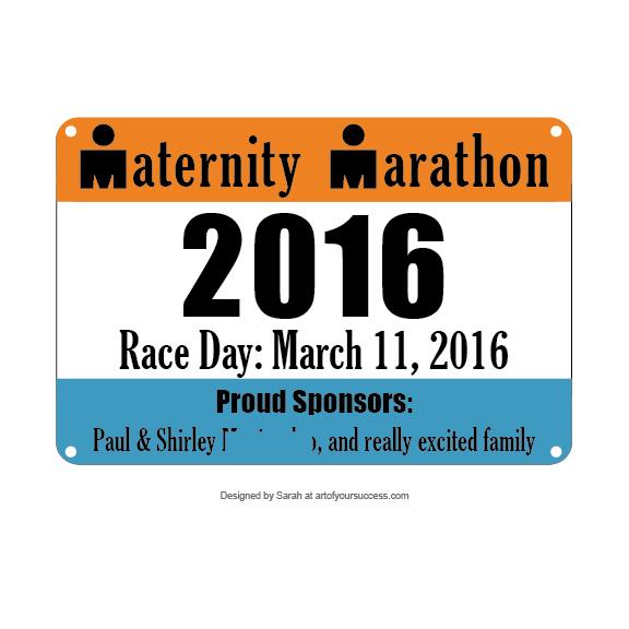 Ironman birth announcement race bib