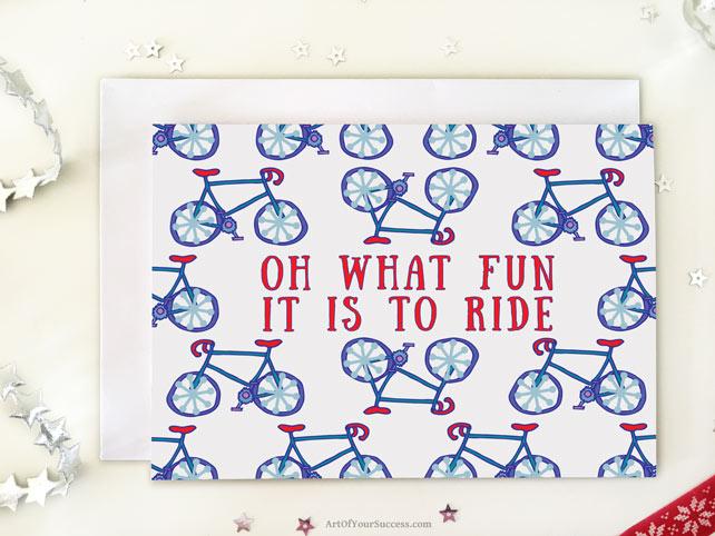 Xmas card for cyclist