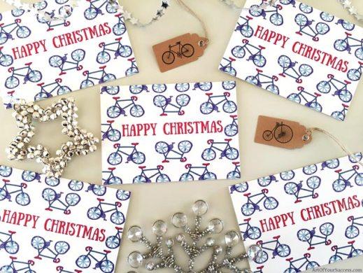 Bike Christmas Card