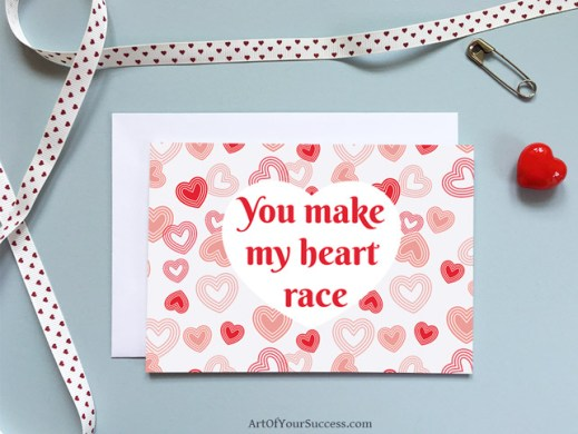 Run Valentine card