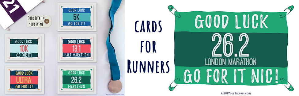 marathon gifts, marathon, cards for runners, gifts for runners