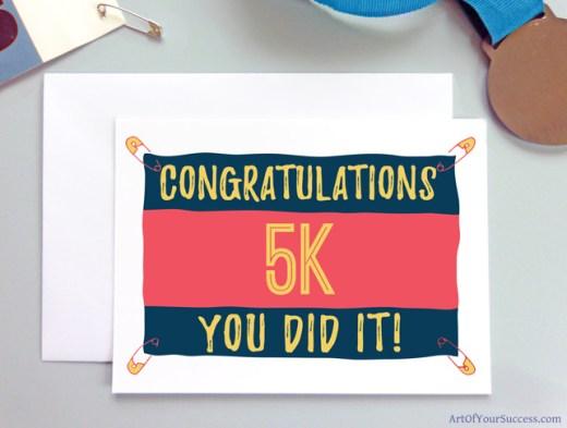 5k Congratulations card for runner