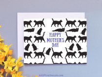 Cats Mother's Day card