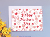 Mother's Day Hearts Card