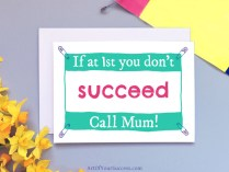 Call mum funny Mother's Day card