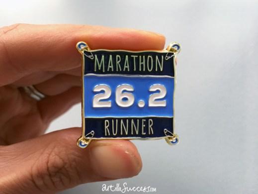 Marathon Runner Enamel Pin