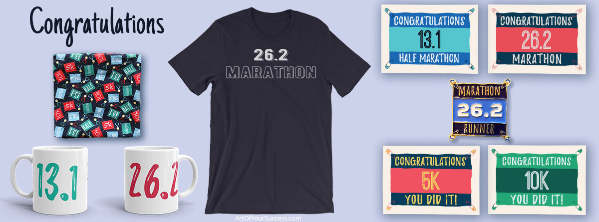 Congratulations gifts for marathon and runners