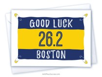 Good Luck Boston Marathon card