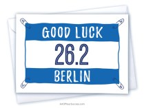 Good Luck Berlin marathon card