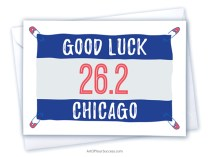 Good luck Chicago marathon card