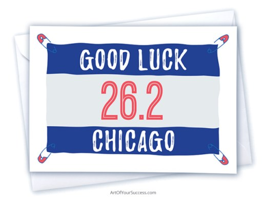 Good luck Chicago marathon card
