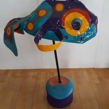 Vissenproject Vis paars met blauw
