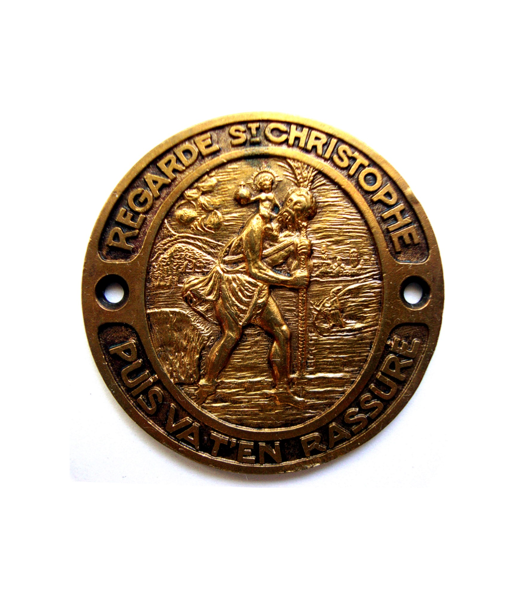 French St.Christopher dashboard badge by Blaché for sale