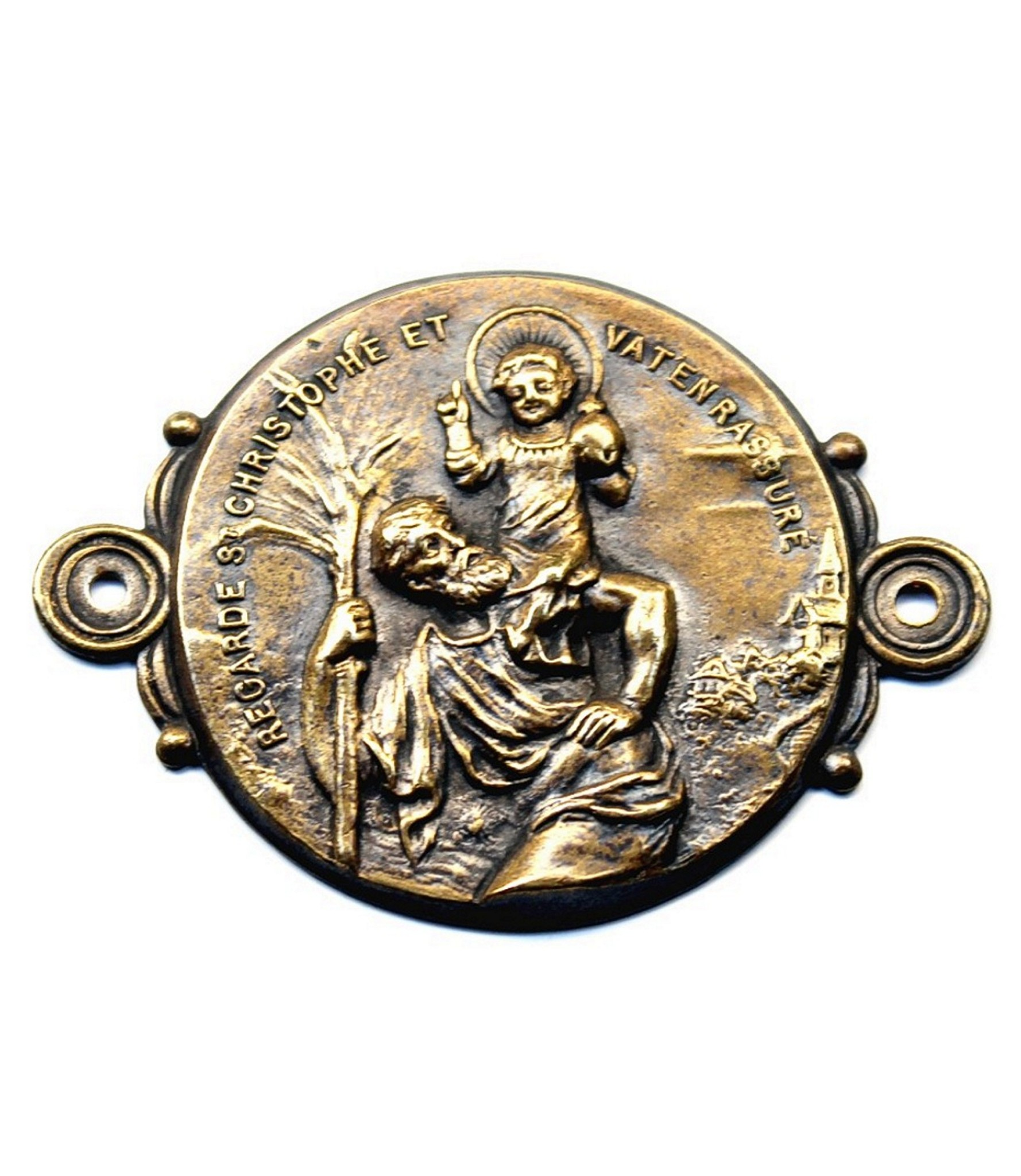 Bronze St.Christopher dashboard badge attributed to Emile Katz