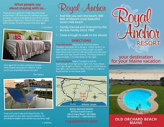 Royal Anchor Resort Brochure Design Maine Web Design And