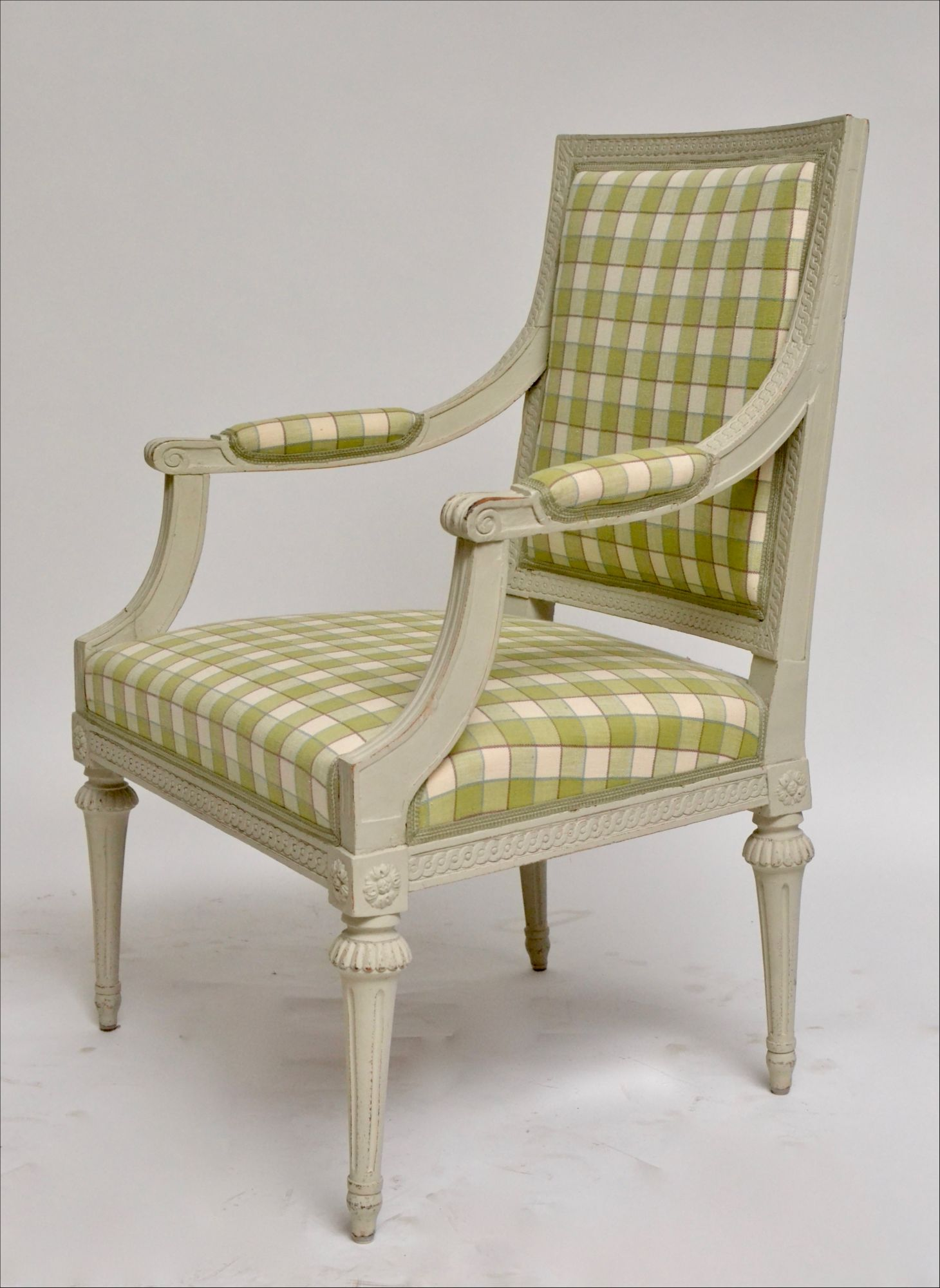 grey painted chairs hanging chair brisbane pair of gustavian arm