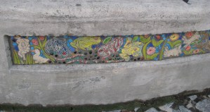 panel about 8 inches from ground