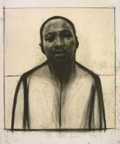 Martin Luther King, Jr., 2002 etching and aquatint with chine collé 20 x 16 inches