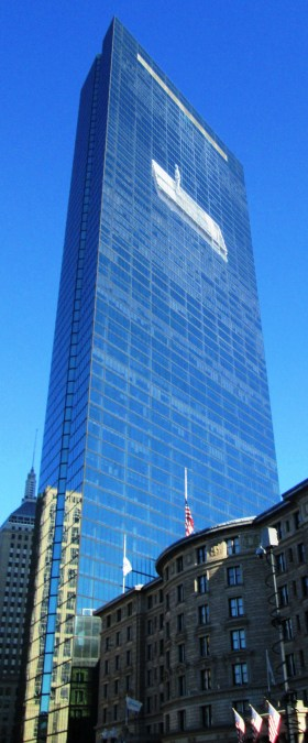 200 Clarendon Street building viewed from Copley Square