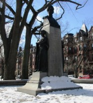 This bust commemorates the second Irish-born mayor of Boston, who died unexpectedly while in office.