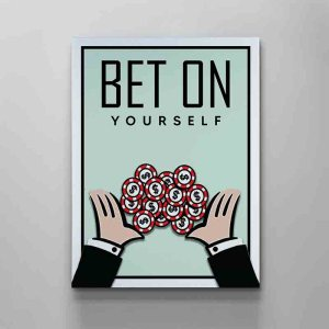 monopoly bet on yourself canvas art by artoxic