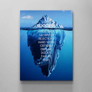 success motivational canvas art by artoxic studio