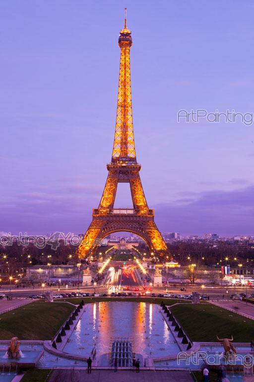 Fotobehang  Posters Eiffeltoren Parijs  ArtPainting4You