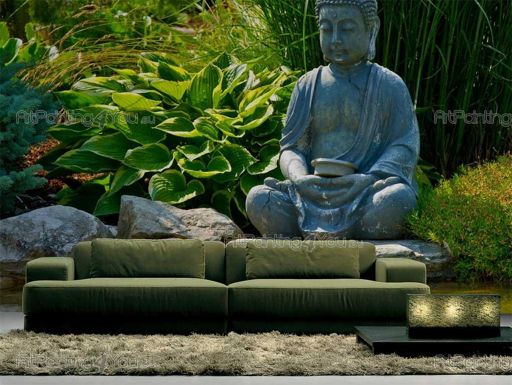 Floral With Quotes Wallpaper Wall Murals Amp Posters Zen Garden Artpainting4you Eu