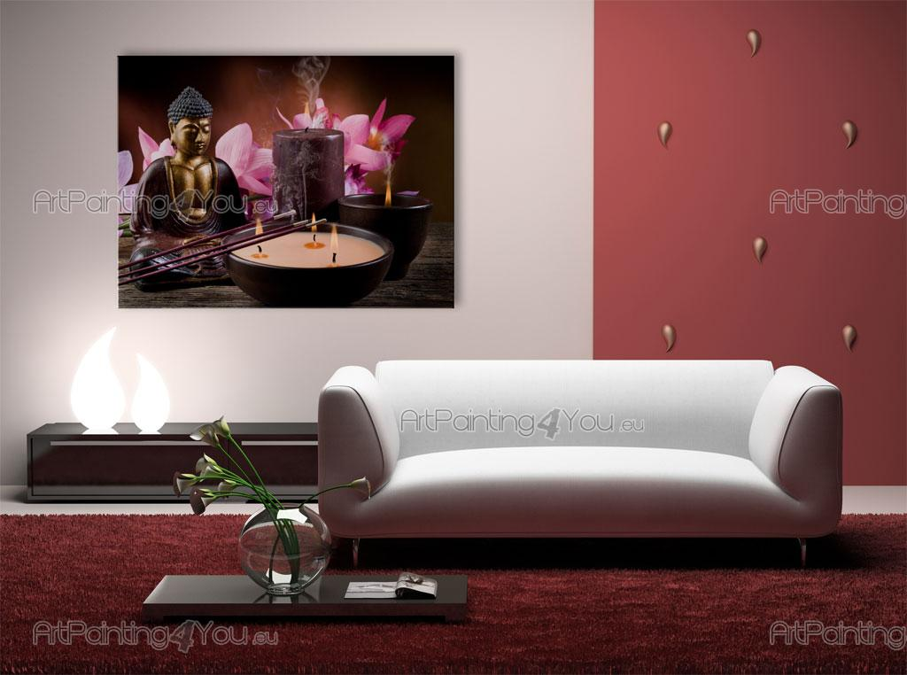 Wall Murals  Posters Buddha Statue  Orchids