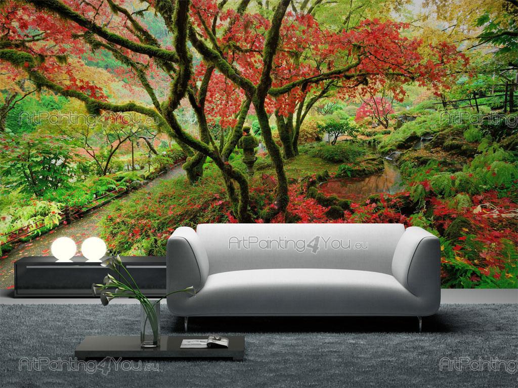 poster mural jardin japonais