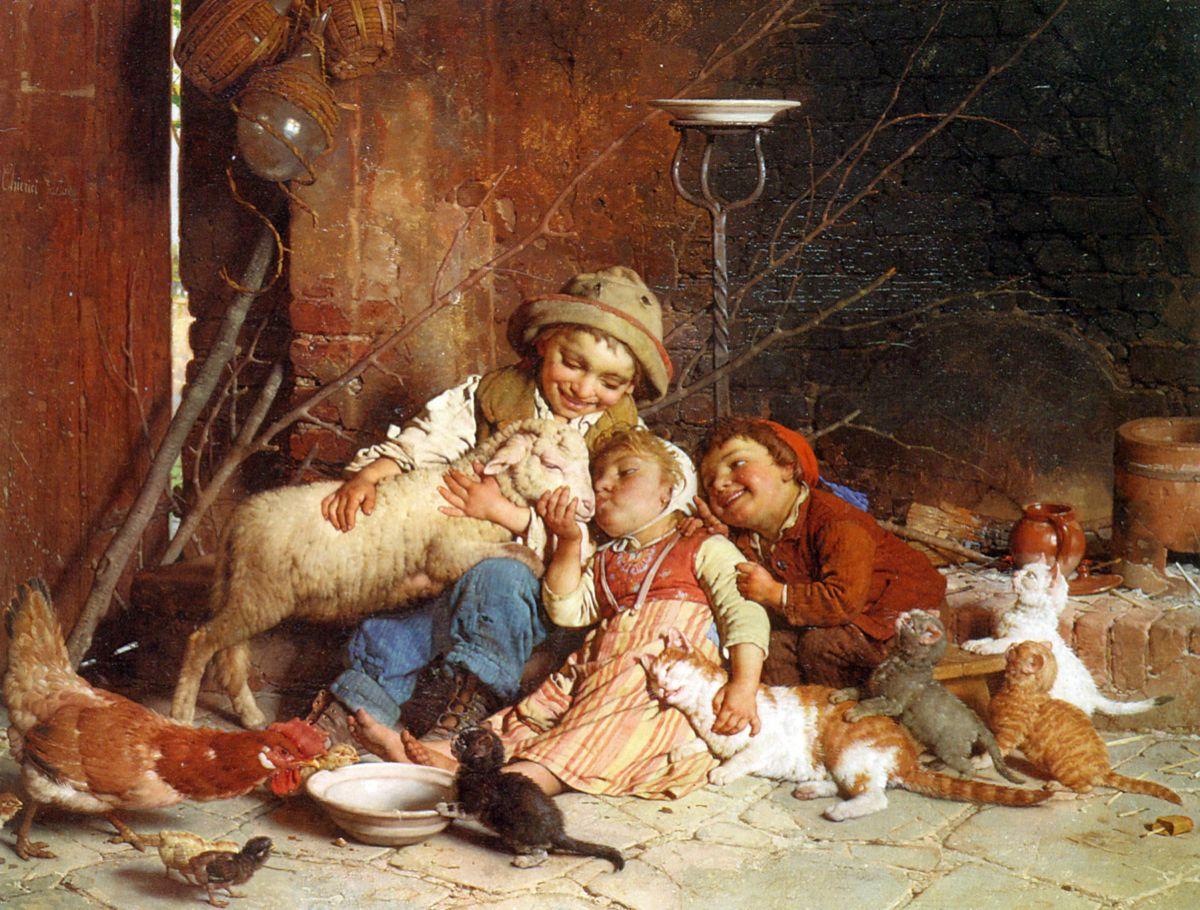 Farmyard Rascals by Gaetano Chierici