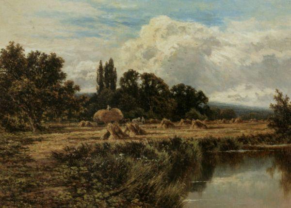 Harvesting Banks Of Thames Henry Hillier