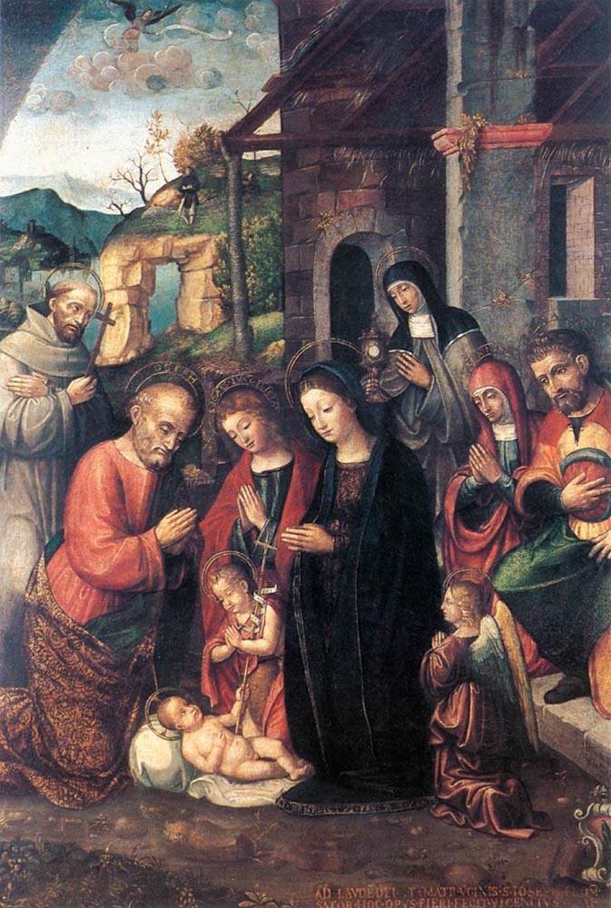Nativity by Bernardino Fasolo-History Painting