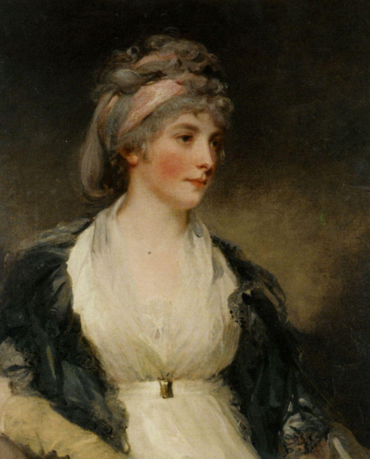 Portrait of Hariet Brouncker of Boveridge Dorset by John Hoppner