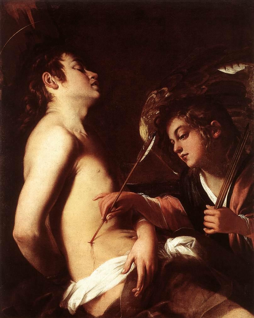 St Sebastian Healed by an Angel by Giovanni Baglione
