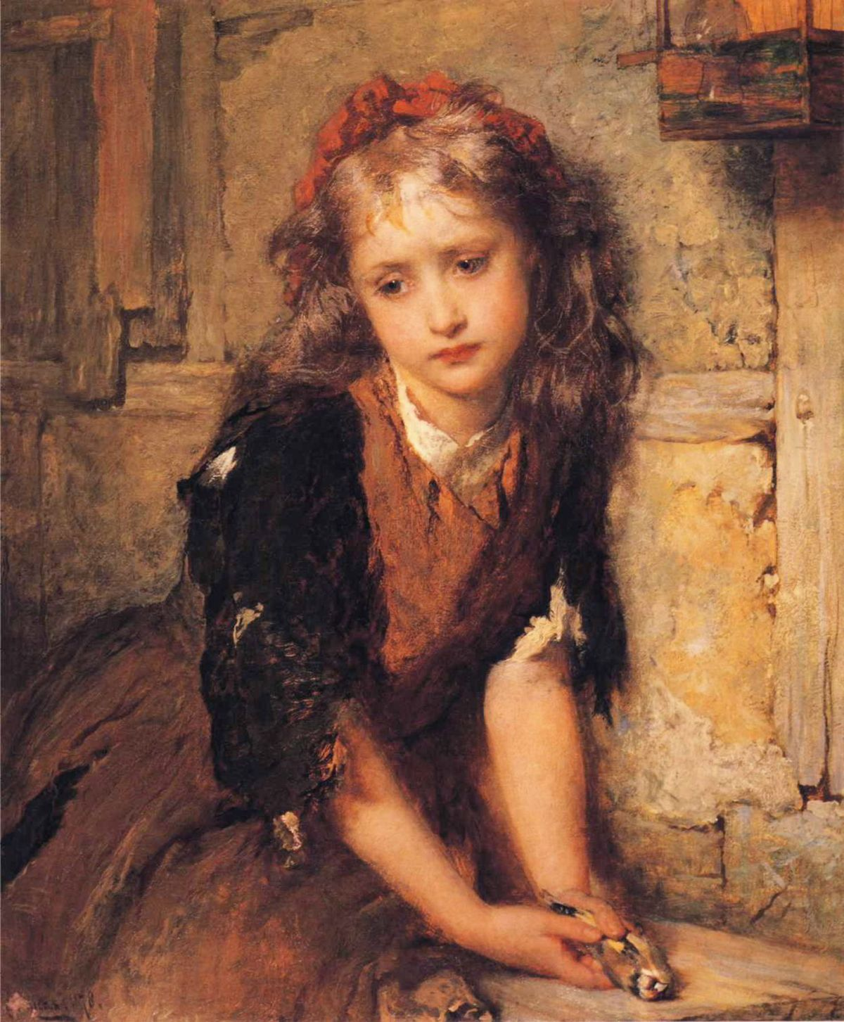The Dead Goldfinch by George Elgar Hicks