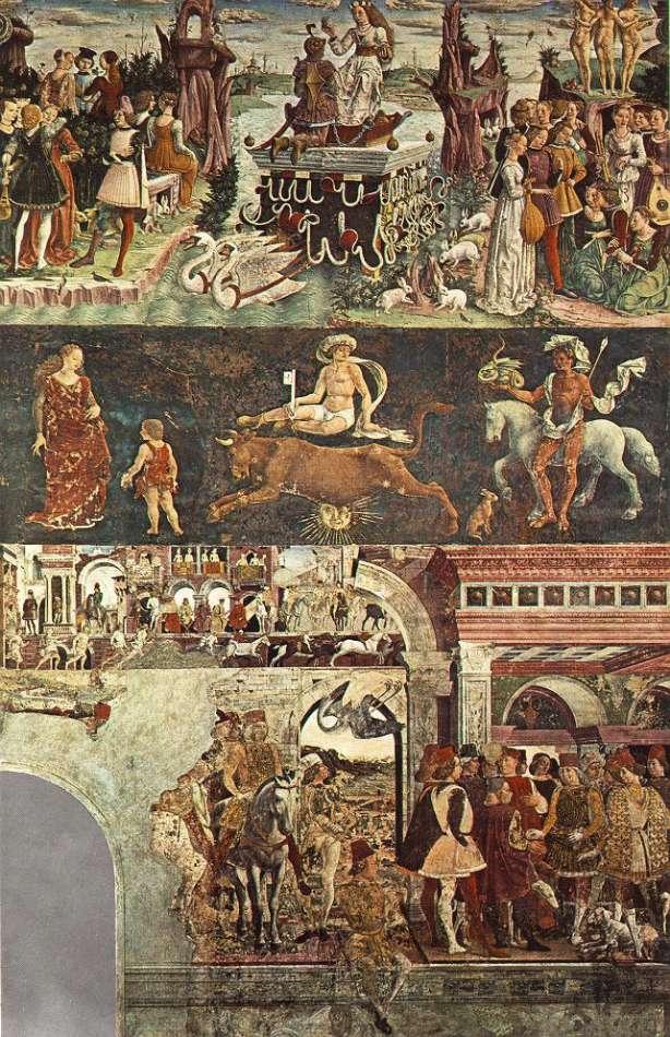 Allegory of April: Triumph of Venus by Francesco del Cossa