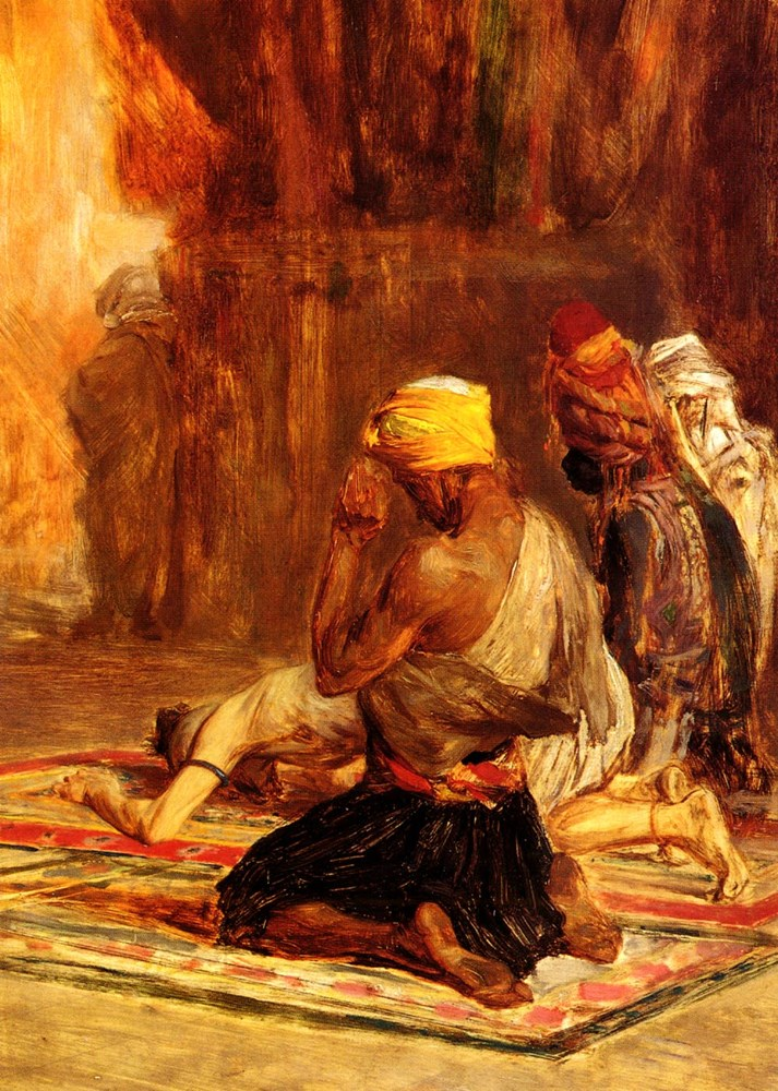 Priere dans La Mosquee by Charles Bargue