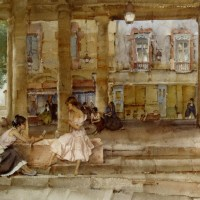 The Market Hall Cordes by Sir William Russell Flint