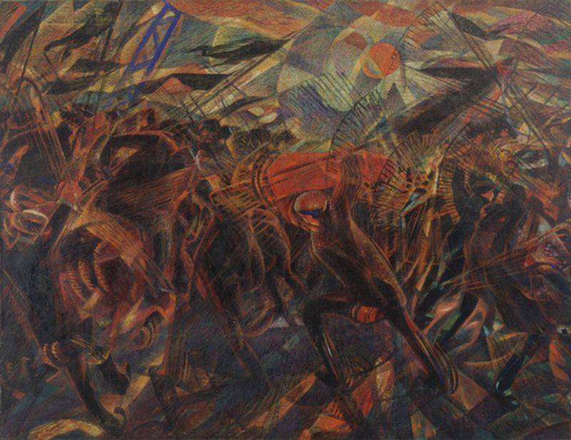 The Funeral of the Anarchist Galli by Carlo Carrà