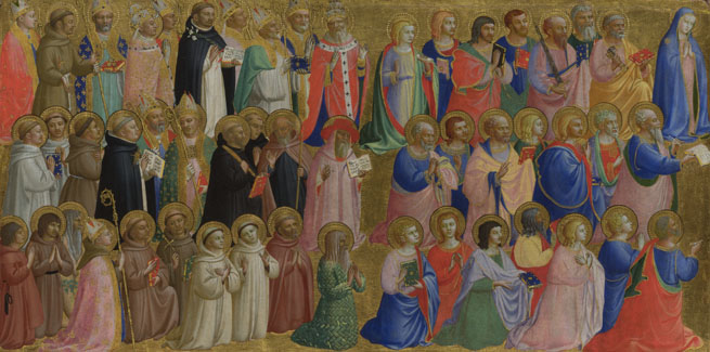 The Virgin Mary with the Apostles and Other Saints by Fra Angelico