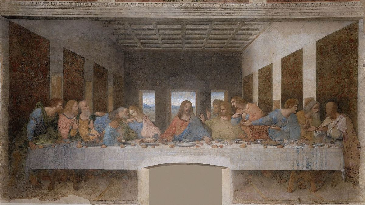The Last Supper After Restoration by Leonardo da Vinci