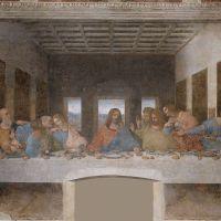 The Last Supper After Restoration by Leonardo da Vinci