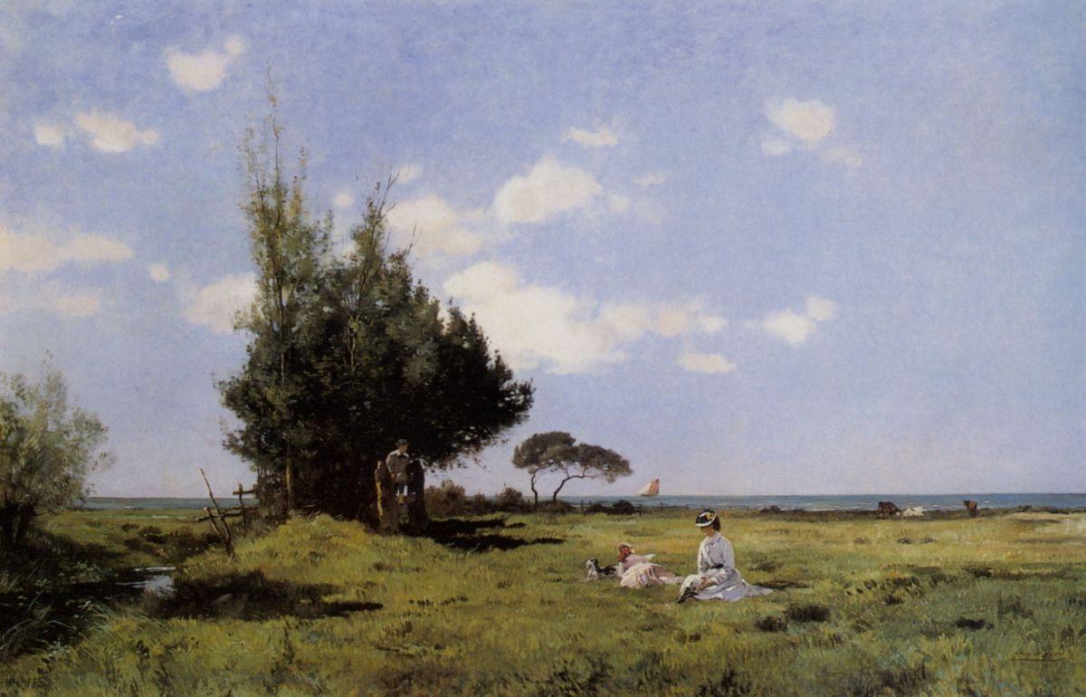 Au bord de la mer by Edmond Charles Joseph Yon